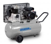 GEWEMA Mobiler Kolbenkompressor mit Riemenantrieb MK103-50-10