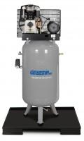 GEWEMA Stationärer, vertikaler Kolbenkompressor für Handwerker mit Riemenantrieb BK119-270-10-V