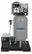 GEWEMA  Stationärer, vertikaler Kolbenkompressor für Handwerker mit Riemenantrieb BK119-270-10-V-KK