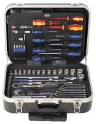 """PROJAHN Universal-Werkzeug-Trolley Nr. 4963-01 130tlg. 1/4"""" + 1/2"""""""