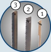 Holzkraft  Stift-Sägeblatt 3,0 x 0,25 mm für Holz, Kunststoff und Gips VPE = 6 Stk.
