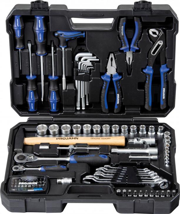 """PROJAHN Universal-Werkzeugkoffer proficraft Nr.8666 98-tlg. 1/4""""""""+1/2"""""""