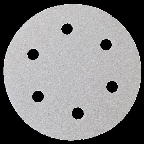 Klett-Schleifpapier Ø225mm P80 mit 6-fach-Lochung, VPE = 25 Stk.