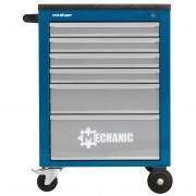GEDORE/CAROLUS Werkstattwagen MECHANIC mit 6 Schubladen, blau/lichtgrau