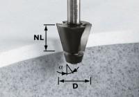 Festool Fasefräser HW D33,54/15° ss S12
