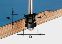 Festool Fase-Bündigfräser HW S8 D24/0° +45°