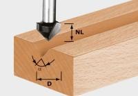 Festool V-Nutfräser HW S8 D14/7/90°
