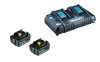MAKITA Power Source-Kit 18V/5,0Ah (2 Akkus + Doppel-Ladegerät)