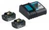 MAKITA Power Source-Kit 18V/3,0Ah (2 Akkus + Ladegerät DC18RC)
