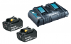 MAKITA Power Source-Kit 18V/3,0Ah (2 Akkus + Doppel-Ladegerät DC18RD)