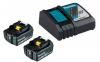 MAKITA Power Source-Kit 18V/4,0Ah (2 Akkus + Ladegerät DC18RC)
